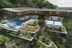 Xálima Island House by Martin Ferrero Architecture / A rendered home still to be built Home Design, Architecture Cool, Island Villa, Home Still, Cliff House, Big Houses, Dream Houses, My Dream Home, Dream Big