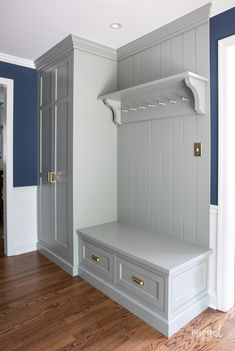 Entryway Cabinet, Entryway Decor, Home Renovation, Home Remodeling, Mudroom Laundry Room, Hallway Designs, Custom Cabinets, Home Projects, House Design