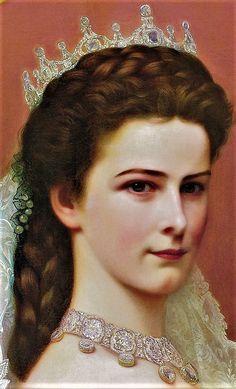 Portrait of Sissi- Empress Elisabeth of Austria by Georg Raab, 1867