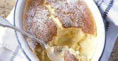 Lemon self-saucing pudding, also known as lemon surprise pudding, is easy to whip up and can be ready in an hour. Make one simple mixture and as it cooks it separates into a light sponge on top and zesty lemon curd beneath.
