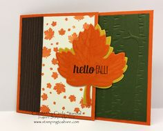 2015 Fall Swap with Stamping to Share Downline, Created by Cindy Standal, Perpetual Birthday Calendar, For All Things, Leaflets Framelits Perpetual Birthday Calendar, Thanksgiving Cards, Autumn Theme, Stampin Up, October, Leaflets, Create, Fall, Autumn