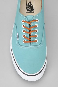Turquoise authentic Vans —men style.