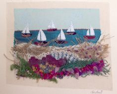 Julie brands contemporary embroidery using dyed vintage lace