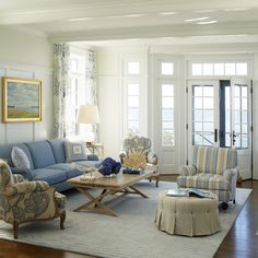 Blue Lounge Design Ideas, Pictures, Remodel and Decor