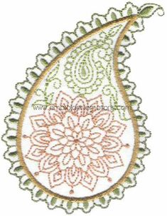 Paisley Machine Embroidery Design on Behance
