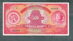 Staré bankovky - První republika 500 korun 1929 - 1