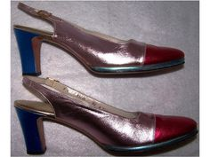free US shipping vintage Colorblock Metallic by CommonCentsThrift, $99.00 size 8
