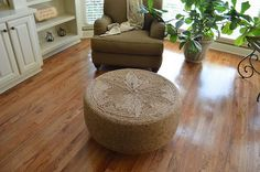 Ottoman from old tire.