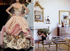 Dior haute coutrue floral gown--parisian living