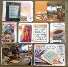 Workshop at Dyan Reaveley. Handmade PL-card with watercolour and aquarellpaper. Project Life, Washi Tape, Watercolour, Workshop, Gallery Wall, Scrapbooking, Frame, Projects, Handmade