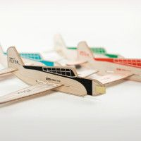 Turbo Flyer Balsa Wood Model Airplanes | Cool Material