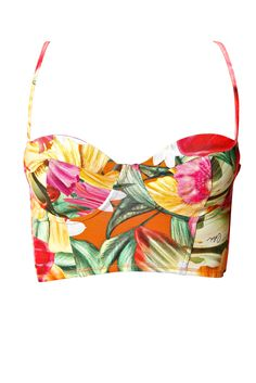 Colcci :: Brazilian fashion :: Floral crop top