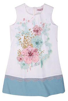Blue Seven Kleid Kurzarm Mädchen Jersey Sommerkleid Gr 92 98 122 128