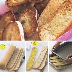 Geröstete lange Brotscheiben | BRIGITTE.de
