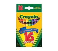 Crayola Crayons, 16-Count, Standard Size  X