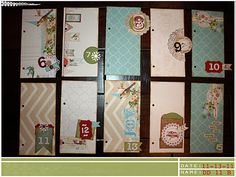 Hybrid Daily Divider pages created with digital items from Rhonna Designs and a mix of store bought items