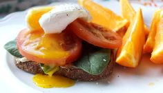 The perfect recipe for a quick and delicious, protein-packed breakfast, lunch or dinner: Toast with hummus, spinach and a poached egg. (Plus, a video on how to perfectly poach an egg.) Please and thanks! | Be Well Philly
