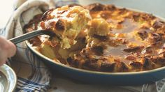 John Besh's bread pudding with rum