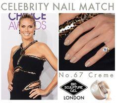 Celebrity Nail Match: No.67 Creme Bio Sculpture Nails, Celebrity Nails, Celebs, Celebrities, Gel Polish, Manicure, Nail Art, Essential Oils, Beauty
