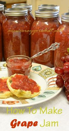 Step by step directions for making and canning grape jam. #beselfreliant