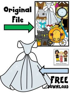Free fairy tale clip art. This freebie includes one princess dress in color and black and white. The image is saved at a high resolution with no white background.Sampled from CINDERELLA FAIRY TALE CLIP ART. The original clip art file comes with 22 Cinderella-themed clip art images. 11 in color, 11 black and white.More to come!--Molly****************************************Molly Tillyer CLIP ARTTerms of UseARTClip art cannot be altered, resold, shared, or used to create new clip art.Cannot…