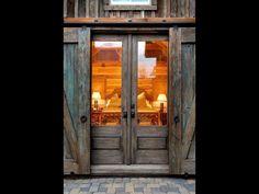 Glass and sliding Barn doors!