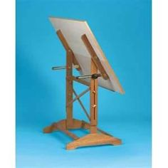 Build a Adjustable Drafting Table easy and low cost - Webstore item Drawing Furniture, Drawing Desk, Furniture Projects, Wood Projects, Diy Furniture, Art Studio Storage, Drafting Drawing, Vintage Tools, Drafting Tables