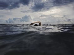 A person swimming, which Finnick is really good at. BL