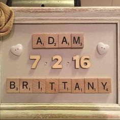 custom made scrabble anniversary frame you design i customize handmade crafts of all kinds