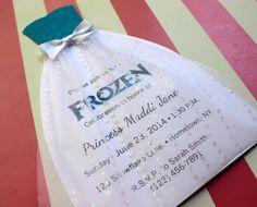 Elsa dress invitations