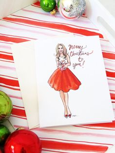 Full Skirted Festivities Set of Illustrated by AThingCreated