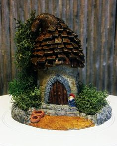 Miniature Polymer Clay Fairy Garden-One-of-a-kind by Tinibaybeez