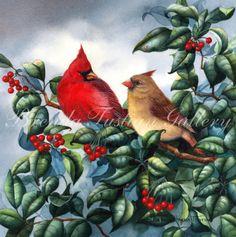 Bluebirds by Brenda Harris Tustian