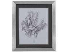 Bassett Mirror  Thoroughly Modern Silvery Blue Tulips III Wall Art