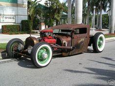 Rat Rod...love those wheels.