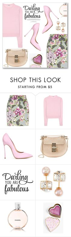 """Good night!"" by dressedbyrose ❤ liked on Polyvore featuring River Island, Miu Miu, Casadei, Chloé, Vita Fede, Louis Vuitton, Chanel and Boohoo"