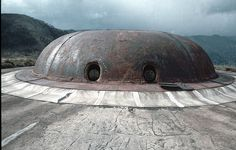 Fort Babonnet on the Maginot Line. Turret accomodated twin 155 mm guns.