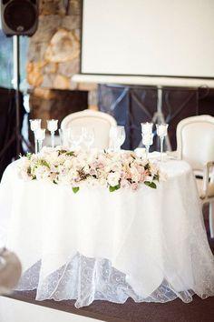 Sheer White Sweetheart Table   Photo by Natasja Kremers
