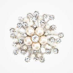 SWAVOSKI  BROOCHES | Swarovski crystal and pearl brooch by Liberty in Love