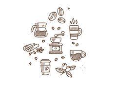 Coffee doodles by Irina Mir http://iconutopia.com/inspiration/best-icons-of-the-week/