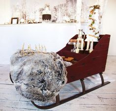 Narnia and Winter Wonderland Party by The Little Big Company– Snow machine & Narnia sleigh with fur coat + gold beaded crown