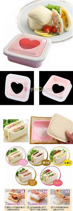 Heart Hearted Shape Sandwich Bread Toast Maker Mold Mould Cutter DIY Tool -- BuyinCoins.com
