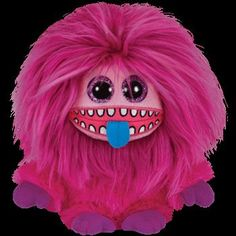 Ty Frizzys Zeezee Beanie Hot Pink Plush Toy