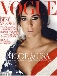 Demi Moore on cover of Vogue May 2009 #America #4thofJuly
