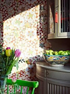 Design Inspiration: Josef Frank Wallpaper in the Kitchen