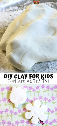 Easy Air Dry Clay Recipe A Fun Summertime Activity Looking for a fun, hands on summertime activity for your kids at home during summer vacation? Everyone will love creating this DIY clay! Soft, easy to use, and easy to make, everyone can keep their hands busy with this fun and easy to use clay. A great activity for childcare workers, summer camps and parents who are at home with their children.  #DIYClay #SummerFun #KidActivities<br> This has to be the BEST homemade air dry clay recipe… Diy Clay, Clay Crafts, Diy Air Dry Clay, Craft Activities For Kids, Diy Crafts For Kids, Science Activities, Kids Diy, Campfire Crafts For Kids, Craft Ideas