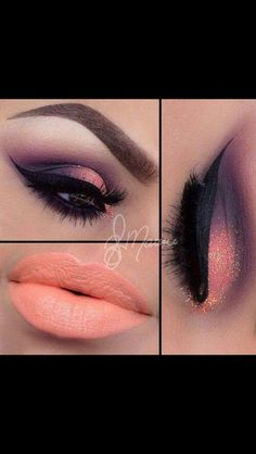 I don't like the lip color but love the eye make up. wish I could do my make up like this Cute Makeup, Gorgeous Makeup, Pretty Makeup, Glamorous Makeup, Gorgeous Eyes, Pretty Eyes, Makeup Goals, Makeup Inspo, Makeup Inspiration