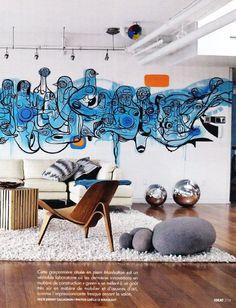 coolest graffiti in lounge