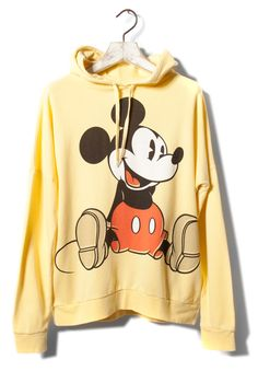 Yellow Mickey Mouse hoodie. I seem to want a lot of Disney themed clothes.