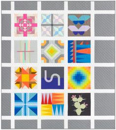 This quilt is solid! Quilt kit includes the Kona Designer Block of the Month Quilt Pattern and Kona Cotton Solids fabric for the x quilt top and binding. Quilt Patterns Free, Fabric Patterns, Free Pattern, Sewing Patterns, Sampler Quilts, House Quilts, Foundation Paper Piecing, Contemporary Quilts, Cotton Quilting Fabric
